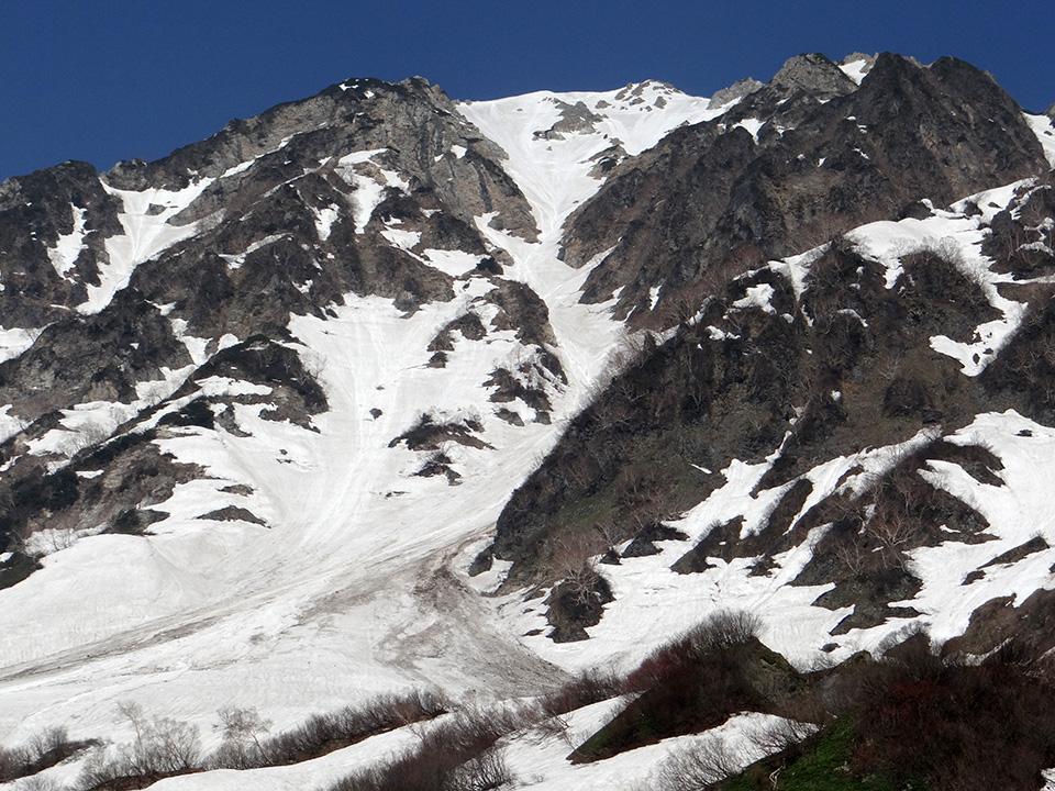 鑓ヶ岳中央ルンゼ