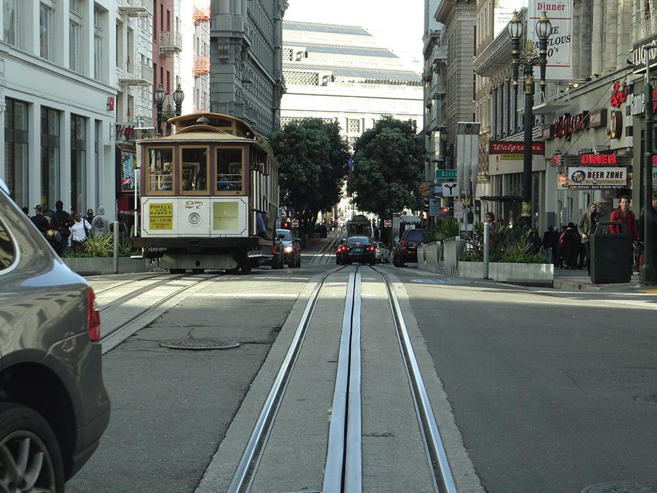 サンフランシスコ名物、ケーブルカー