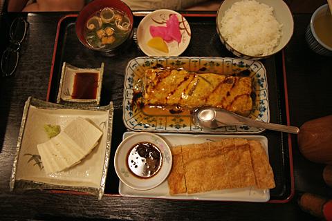 山菜玉子あんかけ定食