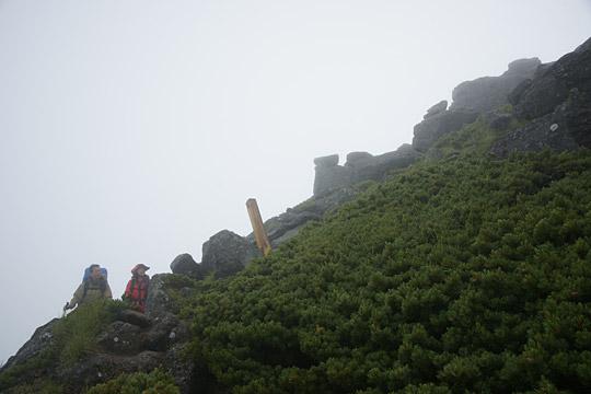 ワリモ岳を通過
