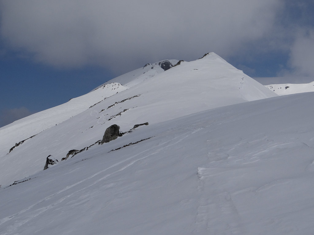 稜線を登る
