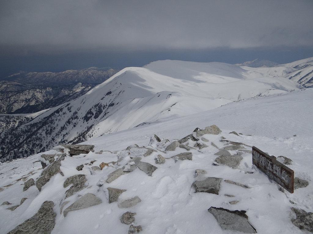 黒部五郎岳の山頂