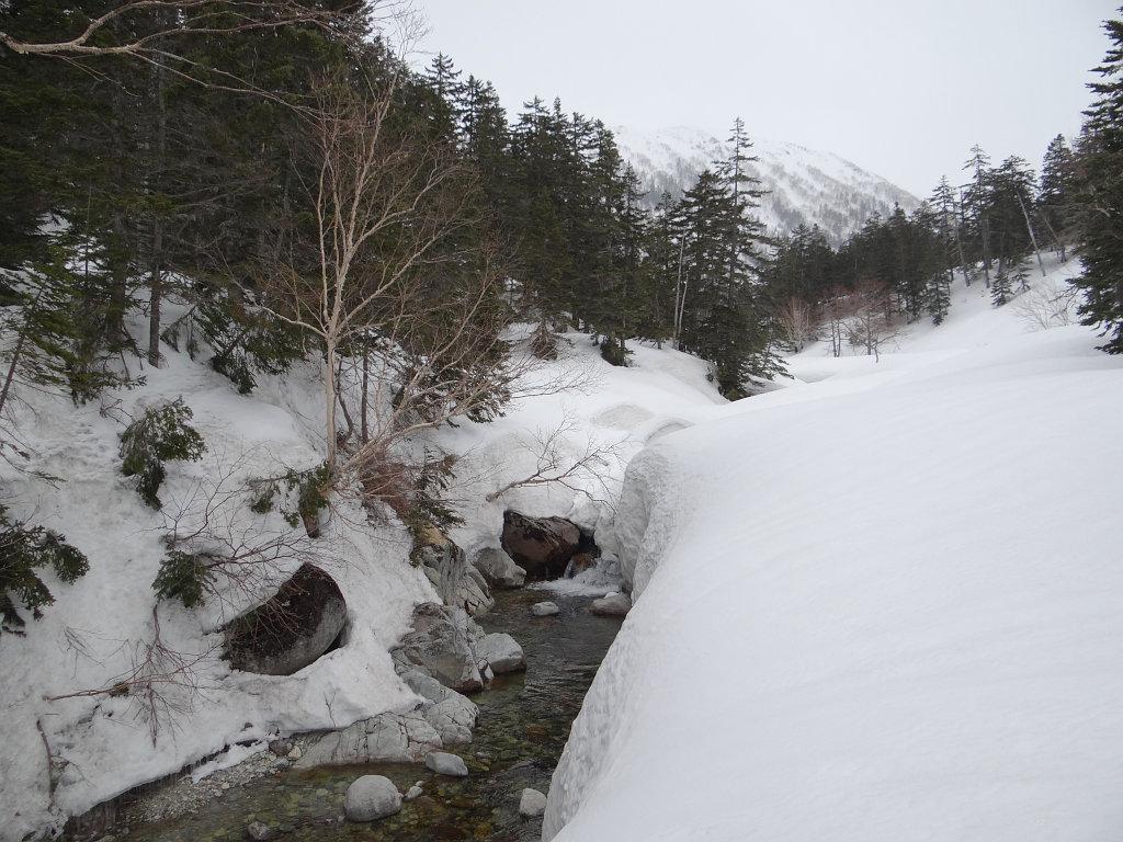 五郎沢出合付近の黒部川