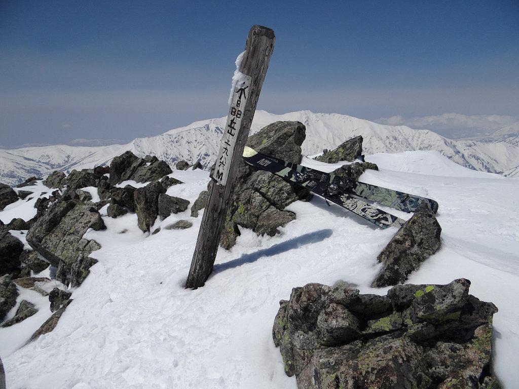 水晶岳南峰にて