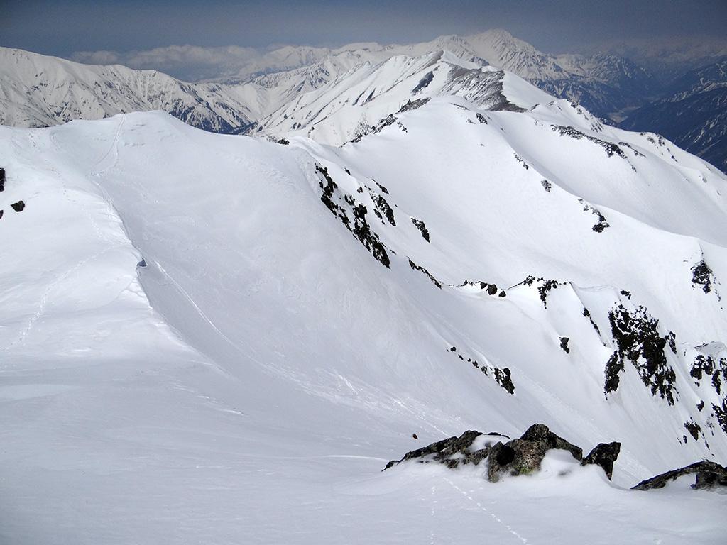 水晶岳中央ルンゼ