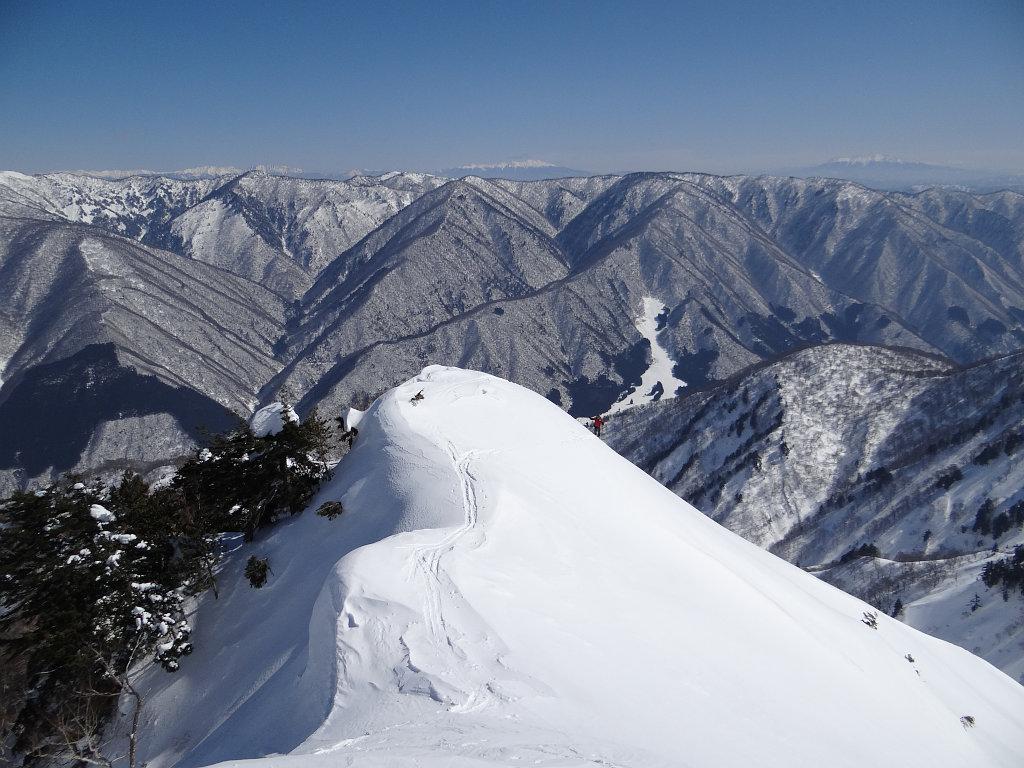 北アルプスと御嶽の眺めバッチリ