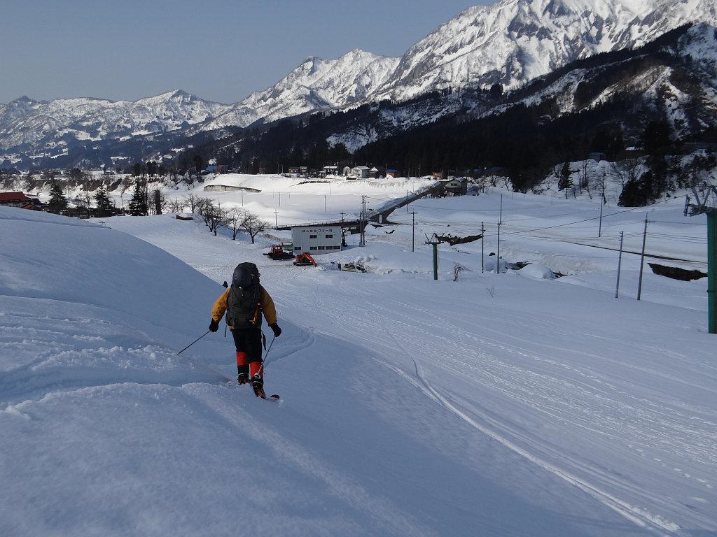 焼山温泉のスキー場跡