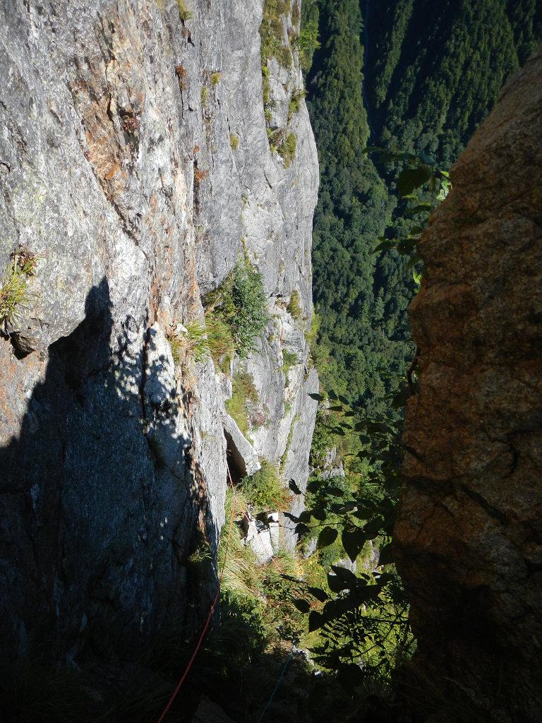 扇岩から見た東稜