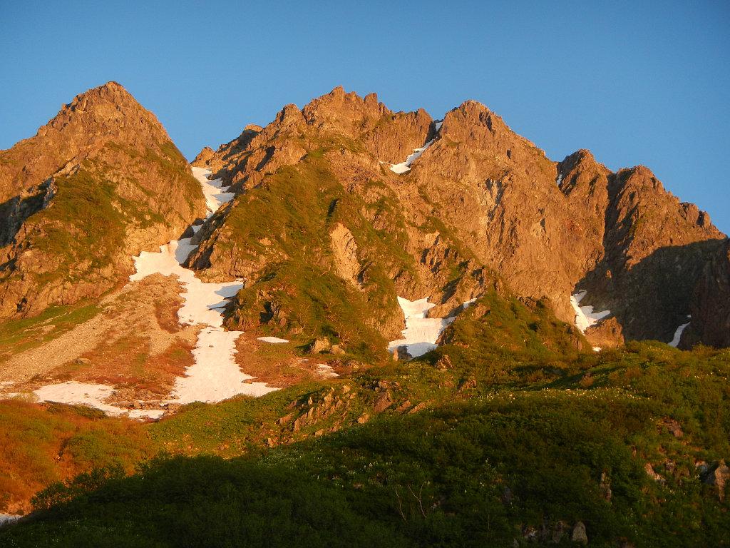 前穂高岳本峰と東壁