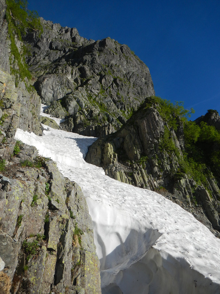 C沢の雪渓